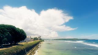 Time lapse of Galle Fort and Indian Ocean, Sri Lanka