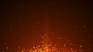 Fire Sparkles Background