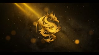 Gold Metal Particle Logo