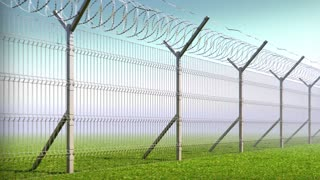 boundary fence, barbed wire, animation looped