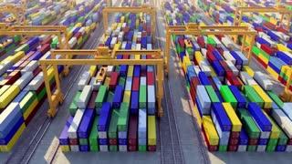 cargo port looped animation