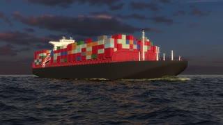 cargo ship on the ocean