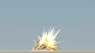 Explosion on blue sky