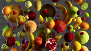 fruits fall animation looped