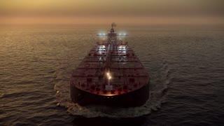 Caravan of oil tankers