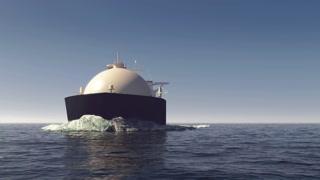 LNG tanker in the ocean