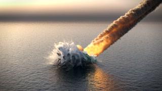 meteorite fall into the ocean