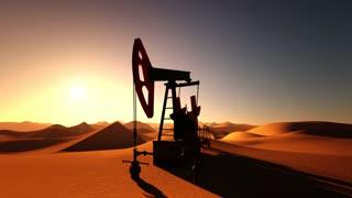Oil Pump in desert