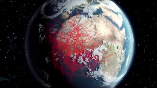 Virus ebola expansion on the earth
