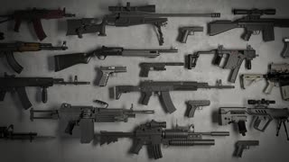 weapons rifles machine guns pistols animation loop