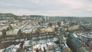 Old City Street Movements Daylight Winter 4K