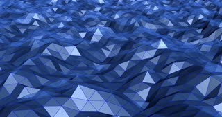 Animated sea of triangles 3D