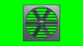 Industrial ventilator looped on green screen 3d illustration render
