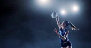 Volleyball female player in action