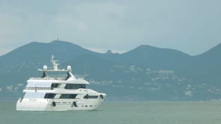 Big motor yacht. Wealth gives great travel opportunities.