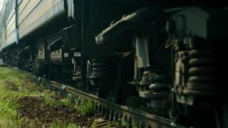 Passenger train. Huge part of a passenger train.