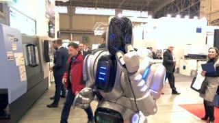 13. 12. 2016 - Ukraine, Kiev. Robot at the exhibition. Era of innovations.