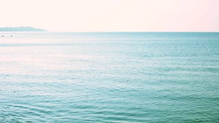 Calm blue sea landscape. Tranquil sea water in the morning.
