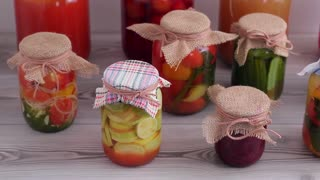exclusive collection of canned vegetables and fruits