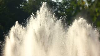 Fountains outdoor slow motion. Splashes of water.