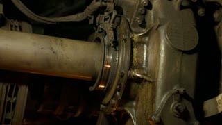 Huge mechanisms. Running gear train. Braking systems. Details of vehicles.