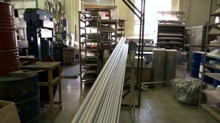 Industrial equipment and parts indoor. Inside industry workshop. Start engineering career.
