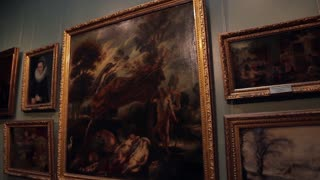 Museum of Art. Exhibition of famous paintings. Art Gallery.