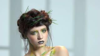 Nature makeup art. Beautiful confident woman.