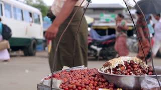 Street food near the road.