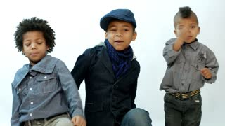 three black boy sings rap and dance
