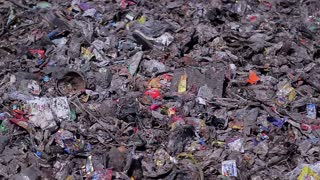 Urban garbage dump. Eco pollution environment. Problem of ecology in the world. Garbage of municipal waste.