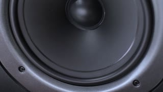 vibrating speaker from loud music
