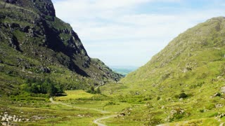 Beautiful Gap Of Dunloe view, between the mountains, Irealnd.