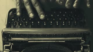 My old typewriter back for some retro typing with a nice cup of coffee, vintage colors HD