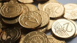 Euro Coins Close Up