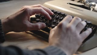 Writing a love letter on an old typewriter from the 1970s. 4K video