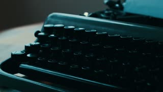 `vintage Typewriter, typing in the shadow. Full HD