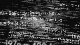Flying Through Math Equations On Black Background 3