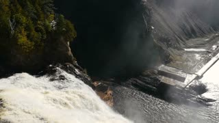 Looking down the Montmorency Falls in Quebec City