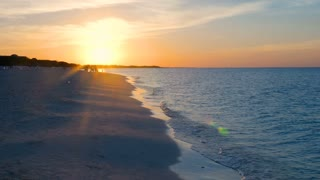 Showing A Beautiful Caribbean Sun Set On A Tropical Beach 2