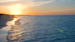 Showing A Beautiful Caribbean Sun Set On A Tropical Beach
