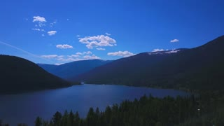 Aerial Drone Footage High In The Sky Showing Mountains In The Background 1