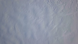 Aerial Drone Slowly Turning Down Showing Snow Covered Iceland 1