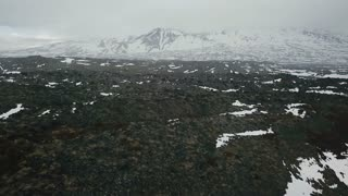 Aerial View Of Djupalonsandur Lava Field In Iceland 2