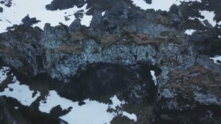 Aerial View Of Djupalonsandur Lava Field In Iceland 5