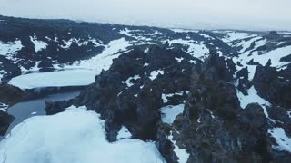 Aerial View Of Djupalonsandur Lava Field In Iceland 7