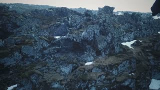 Aerial View Of Djupalonsandur Lava Field In Iceland 8