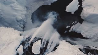 Aerial View Showing Seljalandsfoss Waterfall During Winter In Iceland 4