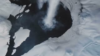 Aerial View Showing Seljalandsfoss Waterfall During Winter In Iceland 8