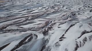 Beautiful Iceland Aerial View Of Snow Covered Ground 1